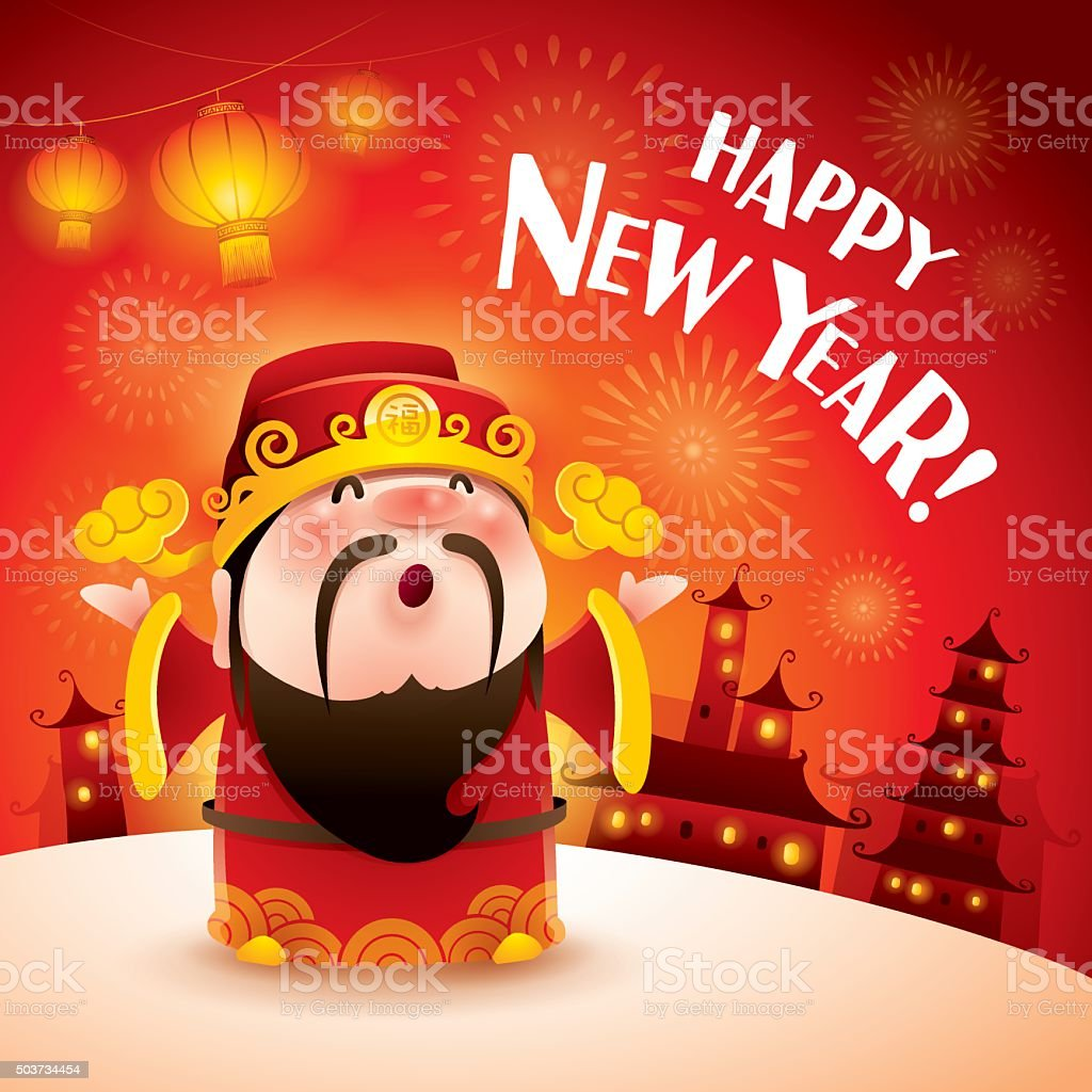 happy new year chinese god of wealth royalty free happy new year chinese