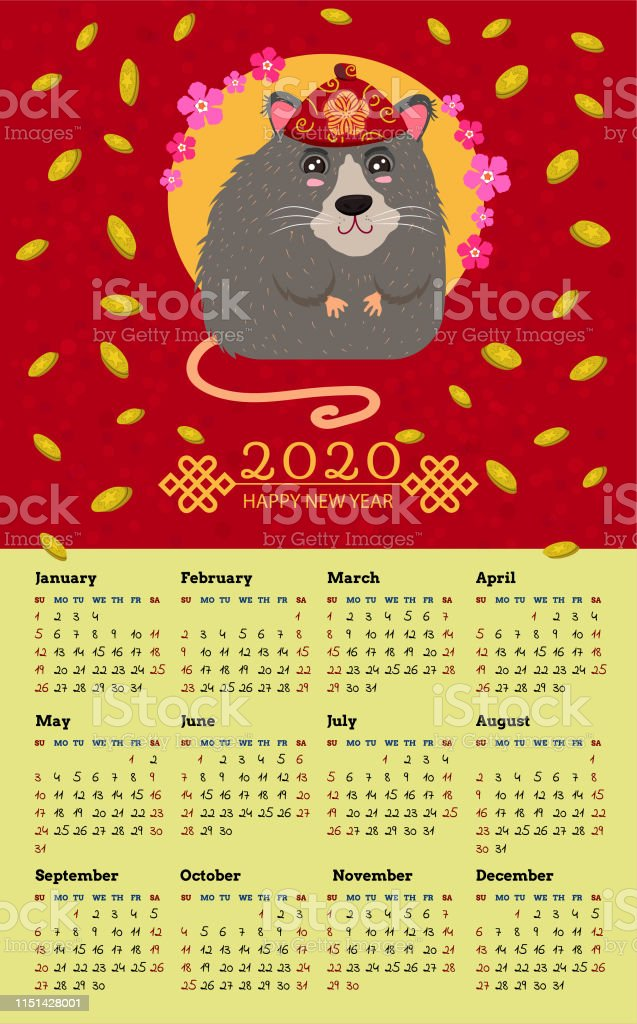 2020 Happy New Year Chinese New Year Greetings Year Of The Rat