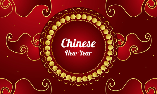 Happy New Year, Chinese New Year, Year of the Rat, 2021, stock illustration