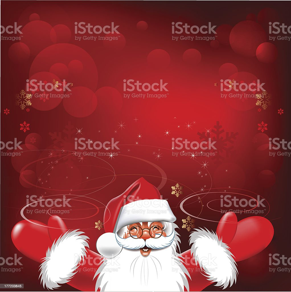 Happy new year. Christmas Background. Merry Santa Claus. royalty-free happy new year christmas background merry santa claus stock vector art & more images of abstract