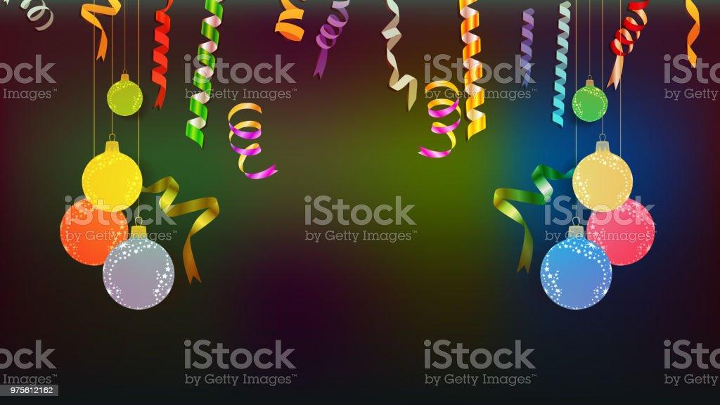Frohes Neues Jahr Konfetti Und Ruhm Fest Farbenfrohe Begrüßung ...
