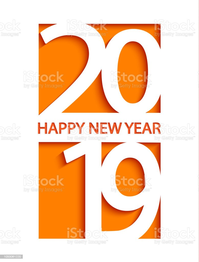 2019 Happy New Year Creative Card Design Stock Vector Art More
