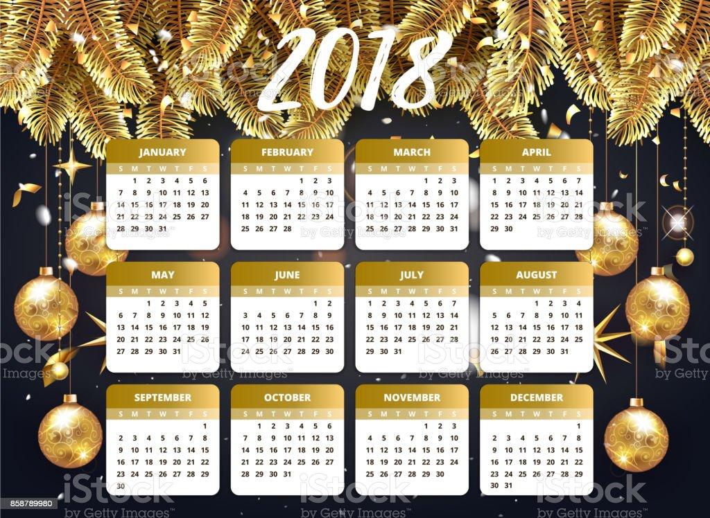 Ilustración De Feliz Año Nuevo 2018 Diseño De Wallpaper Con