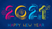 istock 2021 Happy New Year E Learning Concept 1279009344