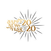 2020 asbtract vector background illustration. Happy 2020 New Year for print, pattern, graphic resources. Holiday Vector Illustration With Luxury Gold and isolated on white background.