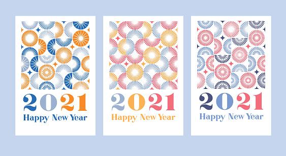 2021 Happy new year fireworks set