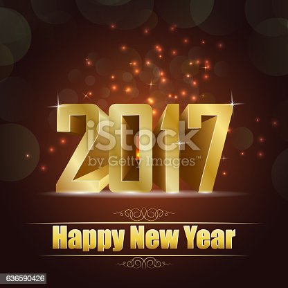 977706014istockphoto Happy new year for 2017 background with golden lettering 636590426