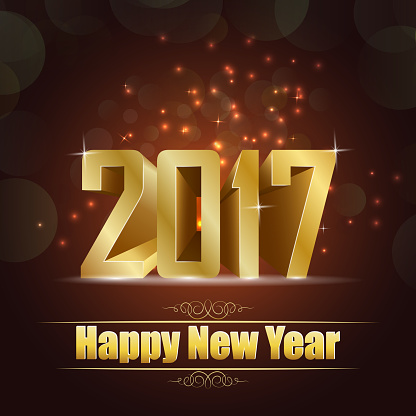 977706014 istock photo Happy new year for 2017 background with golden lettering 636590426