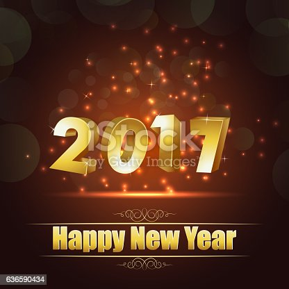 977706014istockphoto Happy new year for 2017 background with golden lettering 636590434