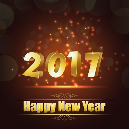 977706014 istock photo Happy new year for 2017 background with golden lettering 636590434