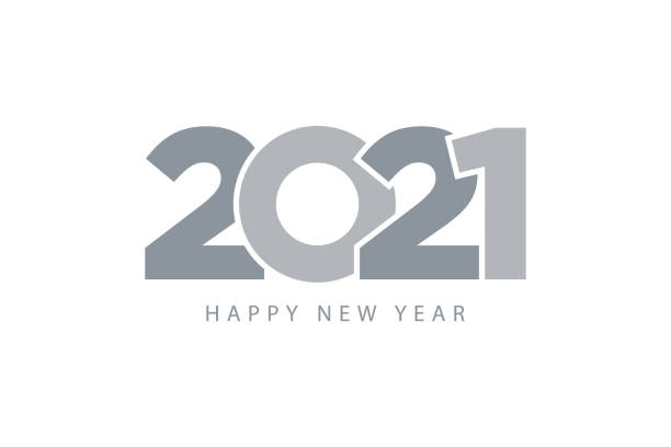 2021 happy new year. Gray symbol metalic color flat design. Template for web and print banner, gift card. 2021 happy new year. Gray symbol metalic color flat design. Template for web and print banner, gift card. happy new year 2021 stock illustrations