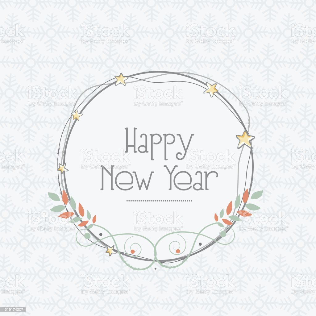 Happy New Year Greeting Card Design Stock Vector Art More Images
