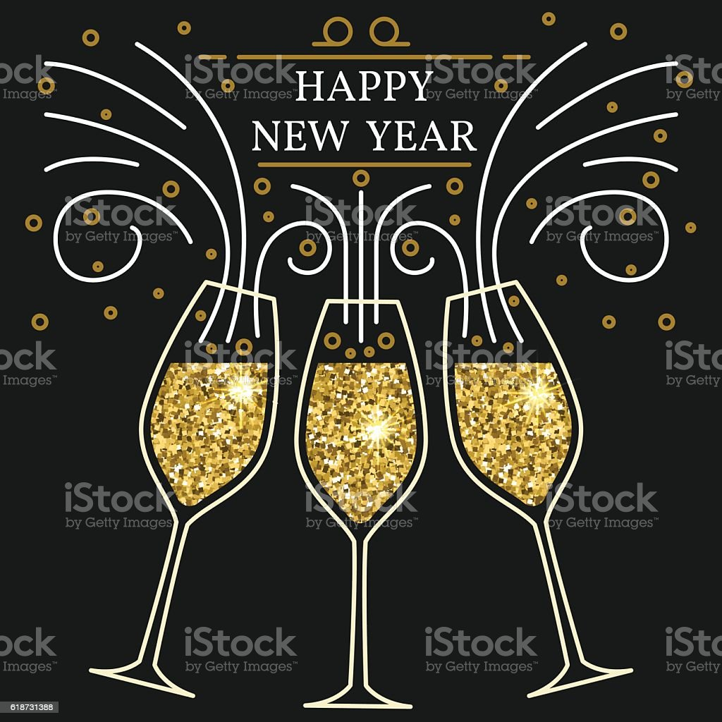 Happy new year greeting card. EPS10 vector. vector art illustration