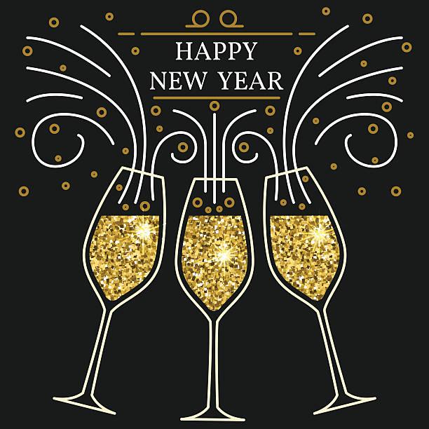 stockillustraties, clipart, cartoons en iconen met happy new year greeting card. eps10 vector. - fresh start yellow