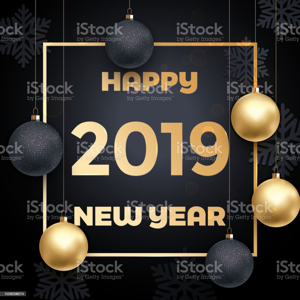 Ilustración De Tarjeta De Felicitación De Feliz Año Nuevo