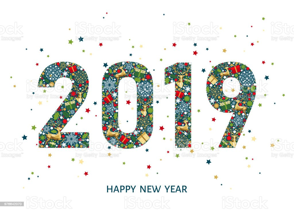 2019 happy new year greeting card on white background royalty free 2019 happy new