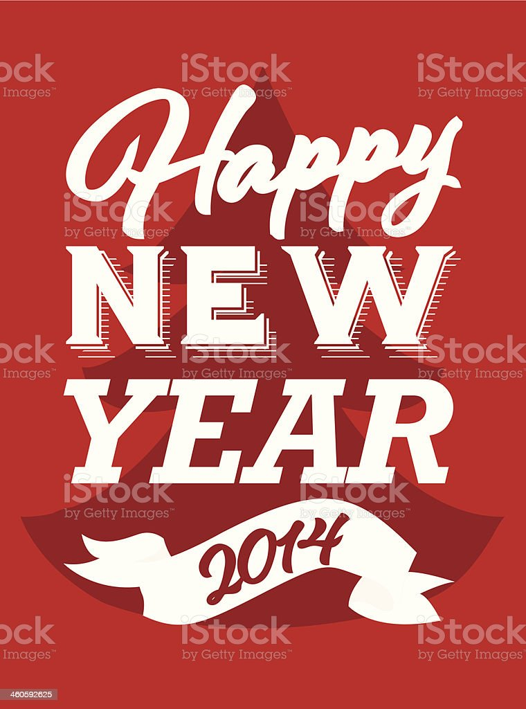 Happy new year greeting card typography stock vector art more happy new year greeting card typography royalty free happy new year greeting card typography m4hsunfo