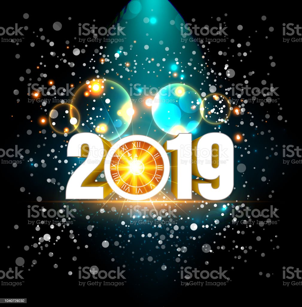 2019 happy new year greeting card vector design template royalty free 2019 happy