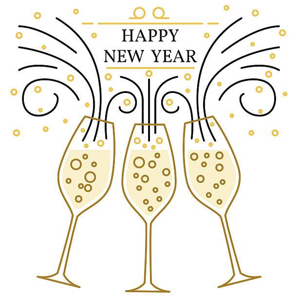 stockillustraties, clipart, cartoons en iconen met happy new year greeting card. - fresh start yellow