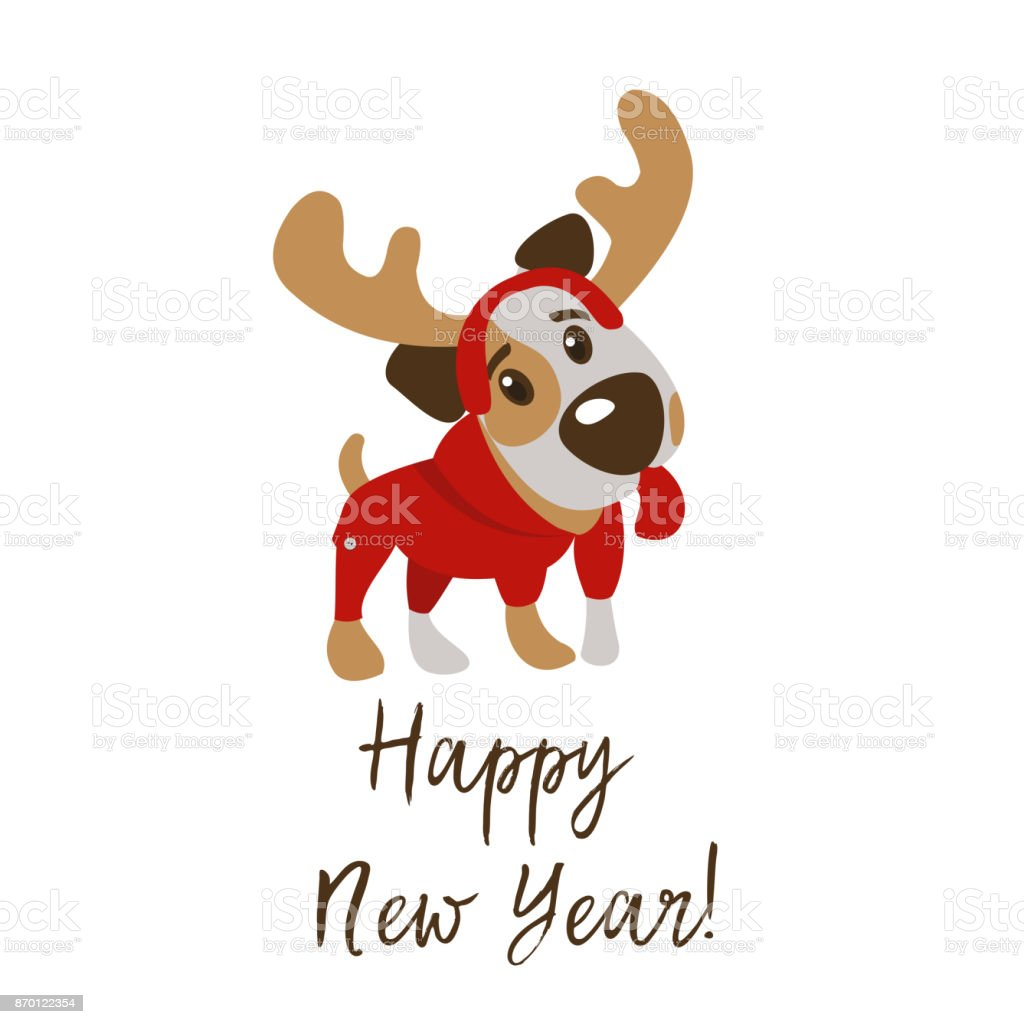Happy New Year Greeting Card Stock Vector Art More Images Of 2018
