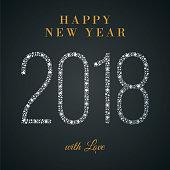 2018 - Happy New Year Greeting card. - Illustration