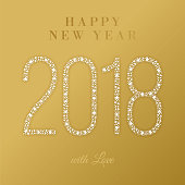 2018 - Happy New Year Greeting card - Illustration