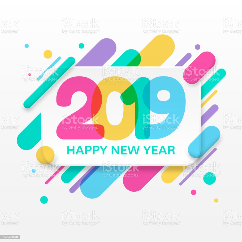 Carte De Voeux De Bonne Année 2019 – Cliparts vectoriels ...