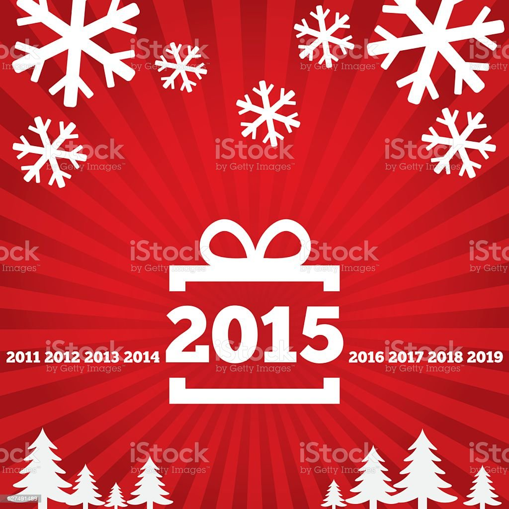 Happy New Year Greeting Card With Flat Icons Stock Vector Art More