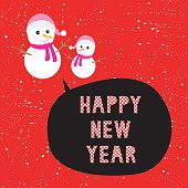 Greeting card for Happy new year.