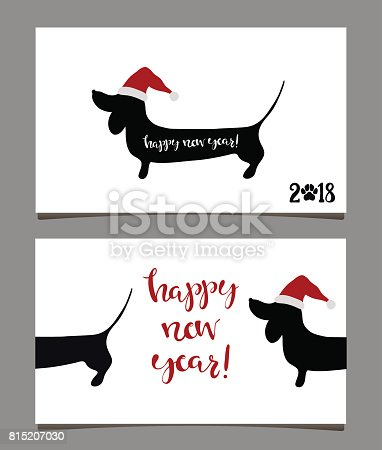 happy new year greeting cards 2018 stock vector art more images of 2018 815207030 istock