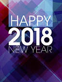 Happy New Year Greeting. Each element in a separate layers. Very easy to edit vector EPS10 file. It has transparency layers with blend effects.