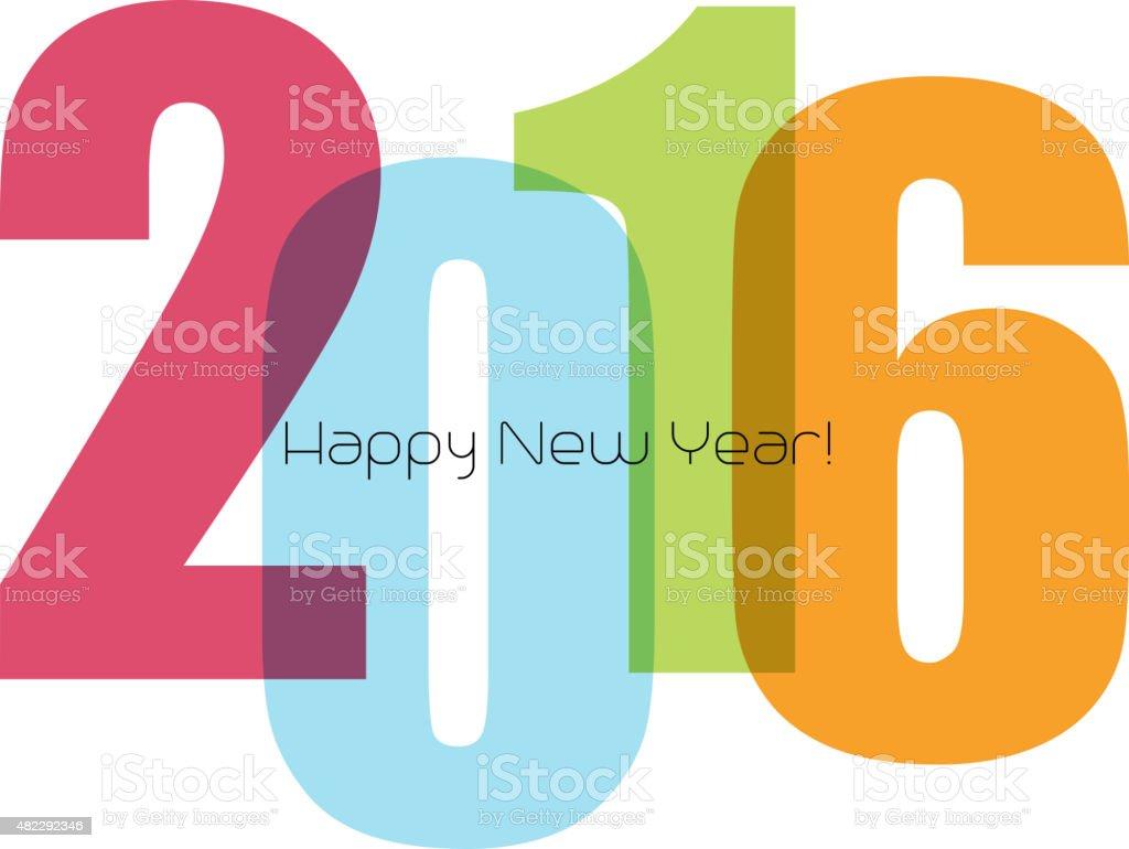 Frohes Neues Jahr Gruß Mit Nummer Stock Vektor Art und mehr Bilder ...
