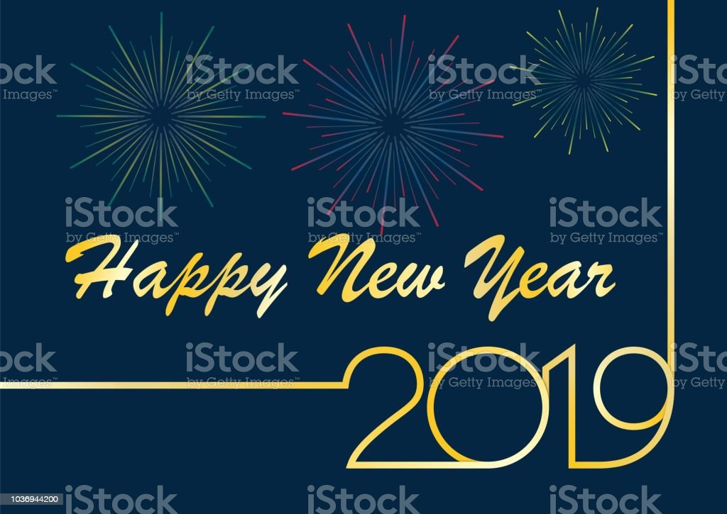 happy new year greetings 2019 royalty free happy new year greetings 2019 stock vector art