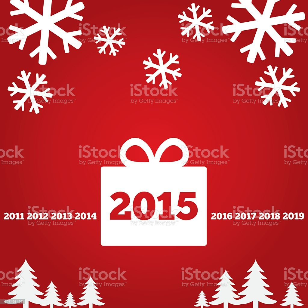 Happy New Year Greetings Card With Flat Icons Stock Vector Art