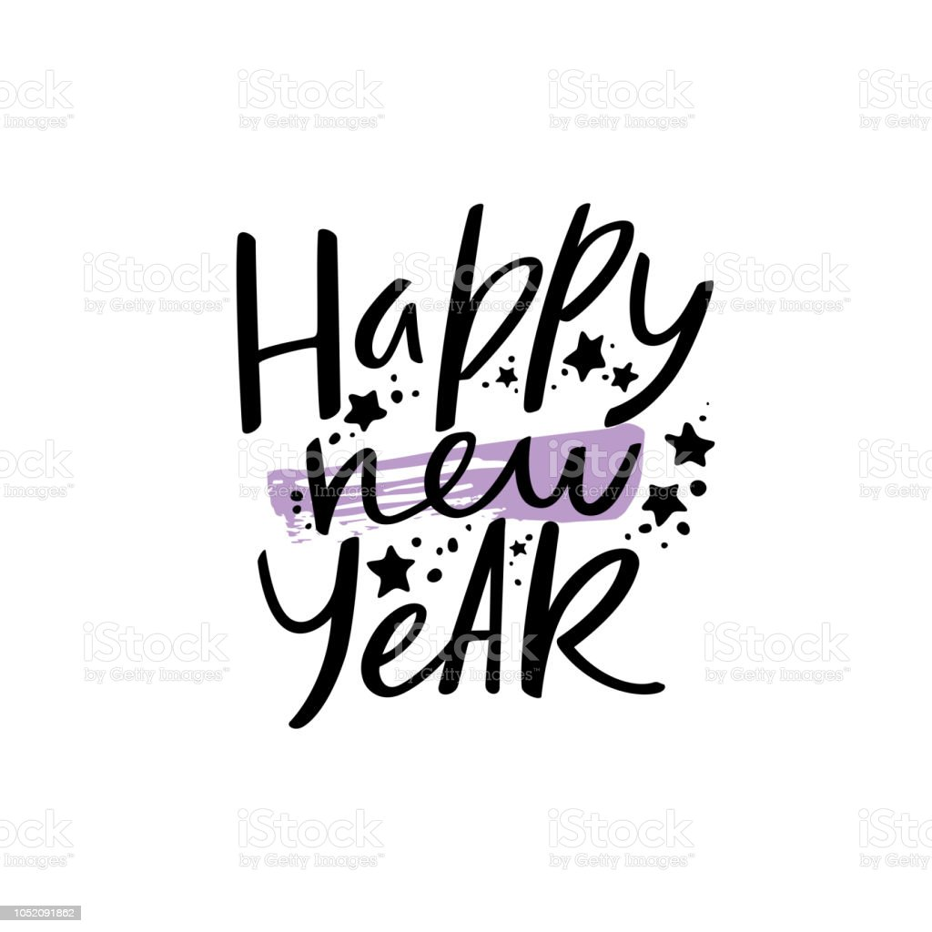 happy new year greetings phrase royalty free happy new year greetings phrase stock vector art