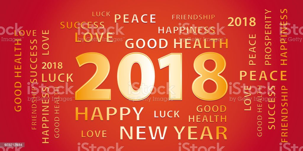 2018 happy new year greetings vector banner red and gold stock 2018 happy new year greetings vector banner red and gold royalty free 2018 m4hsunfo