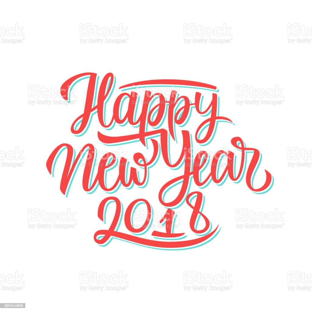 2018 happy new year hand drawn lettering text design card template 2018 happy new year hand drawn lettering text design card template creative typography for holiday kristyandbryce Choice Image