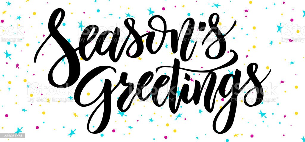 Happy New Year Handwriting Script Lettering Marry Christmas Greeting ...