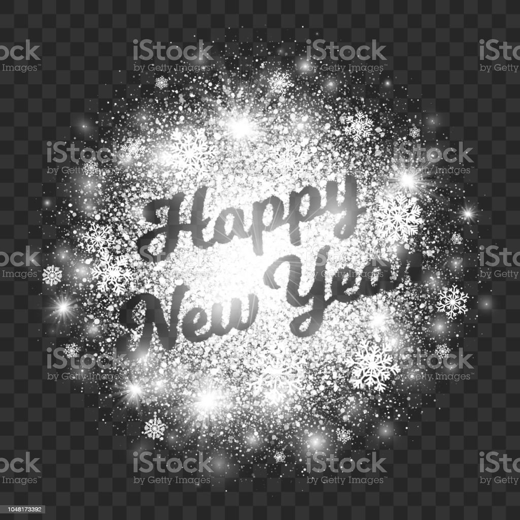 happy new year illustration on transparent background vector royalty free happy new year illustration on