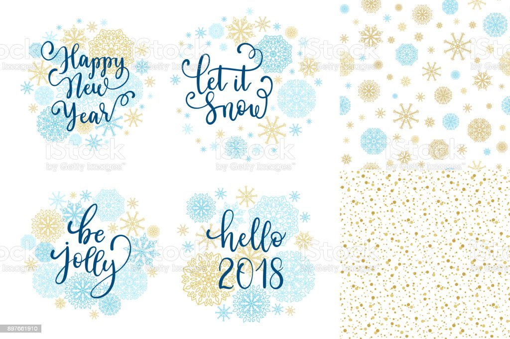 Happy new year let it snow be jolly hello 2018 greeting cards set happy new year let it snow be jolly hello 2018 greeting cards set m4hsunfo