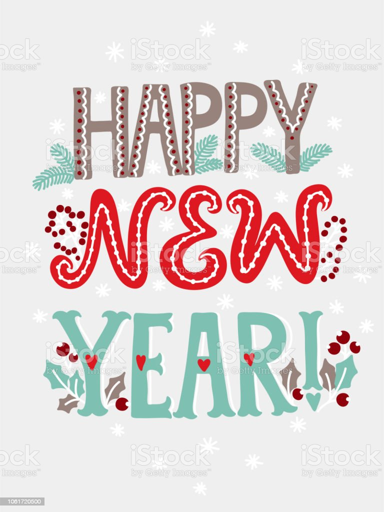 Happy New Year Lettering 63