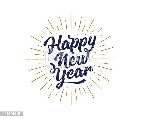 istock Happy New Year. Lettering text for Happy New Year 1186069151