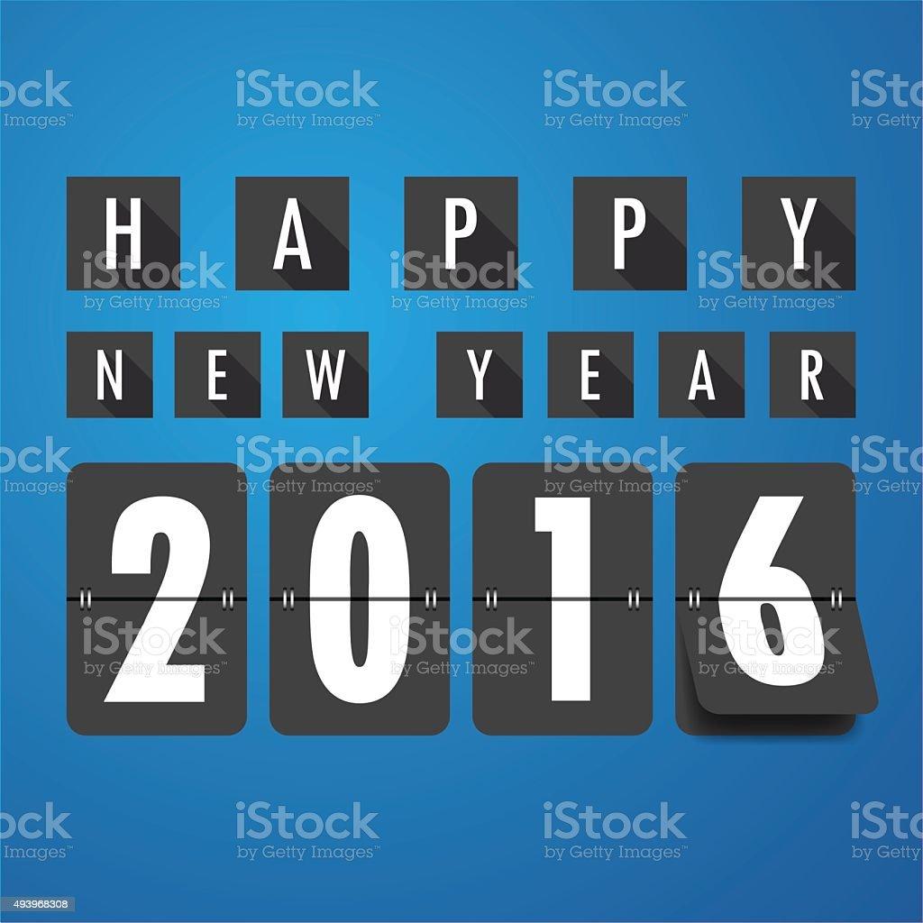 Calendario Meccanici.Felice Nuovo Anno 2016 Calendario Meccanico Backgroundvector