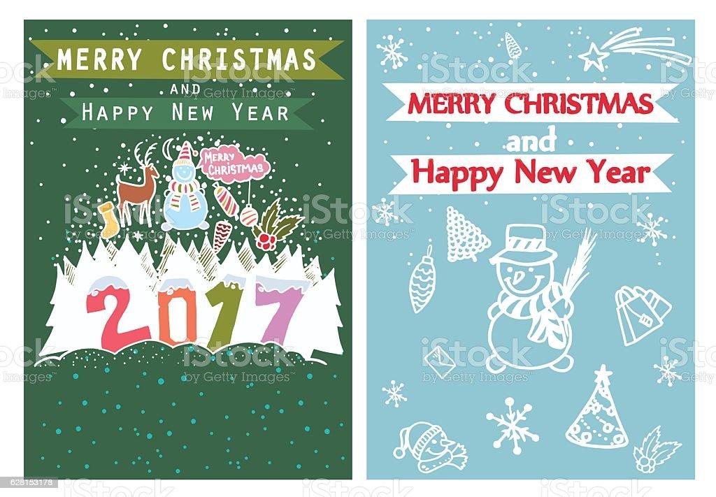 Happy new year merry christmas family holidays greeting card happy new year merry christmas family holidays greeting card templates royalty free happy m4hsunfo