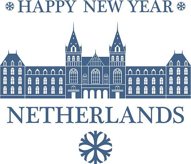 illustrations, cliparts, dessins animés et icônes de happy new year  netherlands - dam