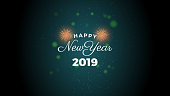 Happy New year, New Year celebration concept 2019, December