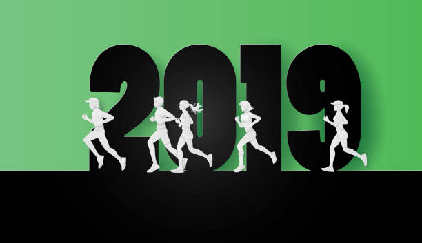 2019 happy new year or merry christmas - workout calendar stock illustrations, clip art, cartoons, & icons