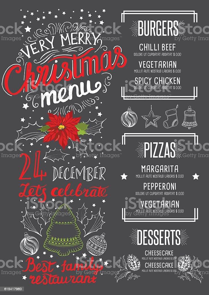 happy new year party invitation restaurant christmas food menu royalty free happy new