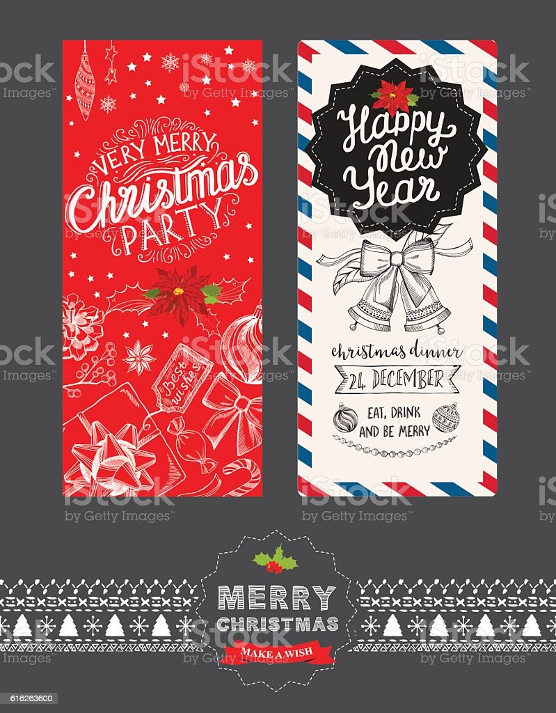 happy new year party invitation restaurant christmas food menu royalty free happy new