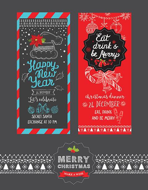 Christmas dinner menu template backgrounds clip art vector images happy new year party invitation restaurant christmas food menu vector art illustration stopboris Images